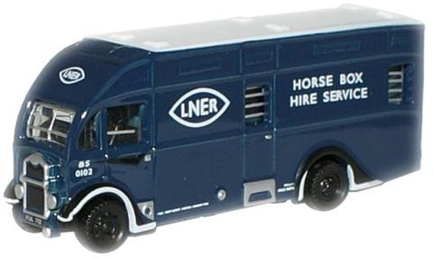 N Scale - Oxford Diecast - NAH002 - Truck, Horsebox - London and North Eastern - FUL 712