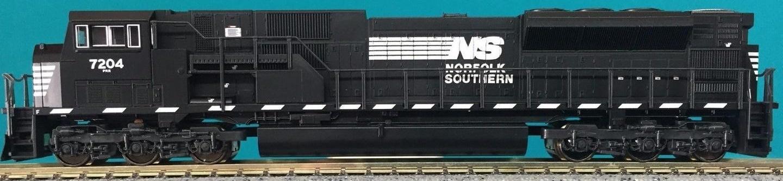 N Scale - Kato USA - 176-5507 - Locomotive, Diesel, EMD SD80MAC - Norfolk Southern - 7204