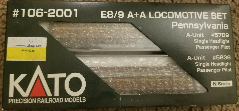 N Scale - Kato USA - 106-2001 - Locomotive, Diesel, EMD E8 - Pennsylvania - 5709, 5836