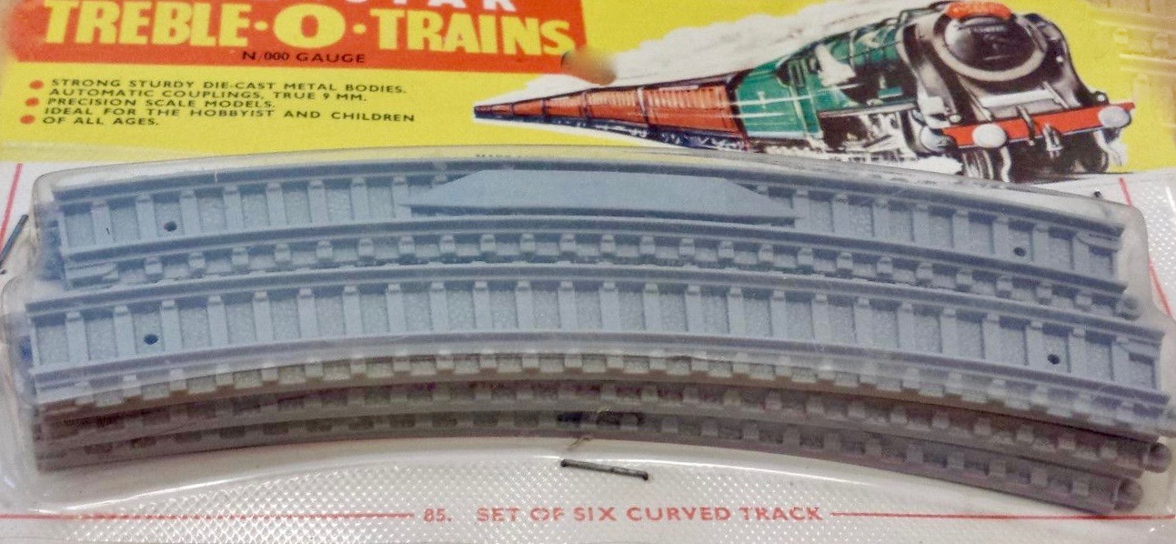 N Scale - Lone Star - EL.85 - Curved Track - Undecorated