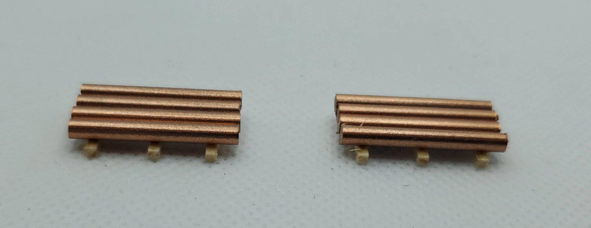 N Scale - CG Model Trains - 13538 - Railcar Loads - Painted/Unlettered - Copper Rod Loads