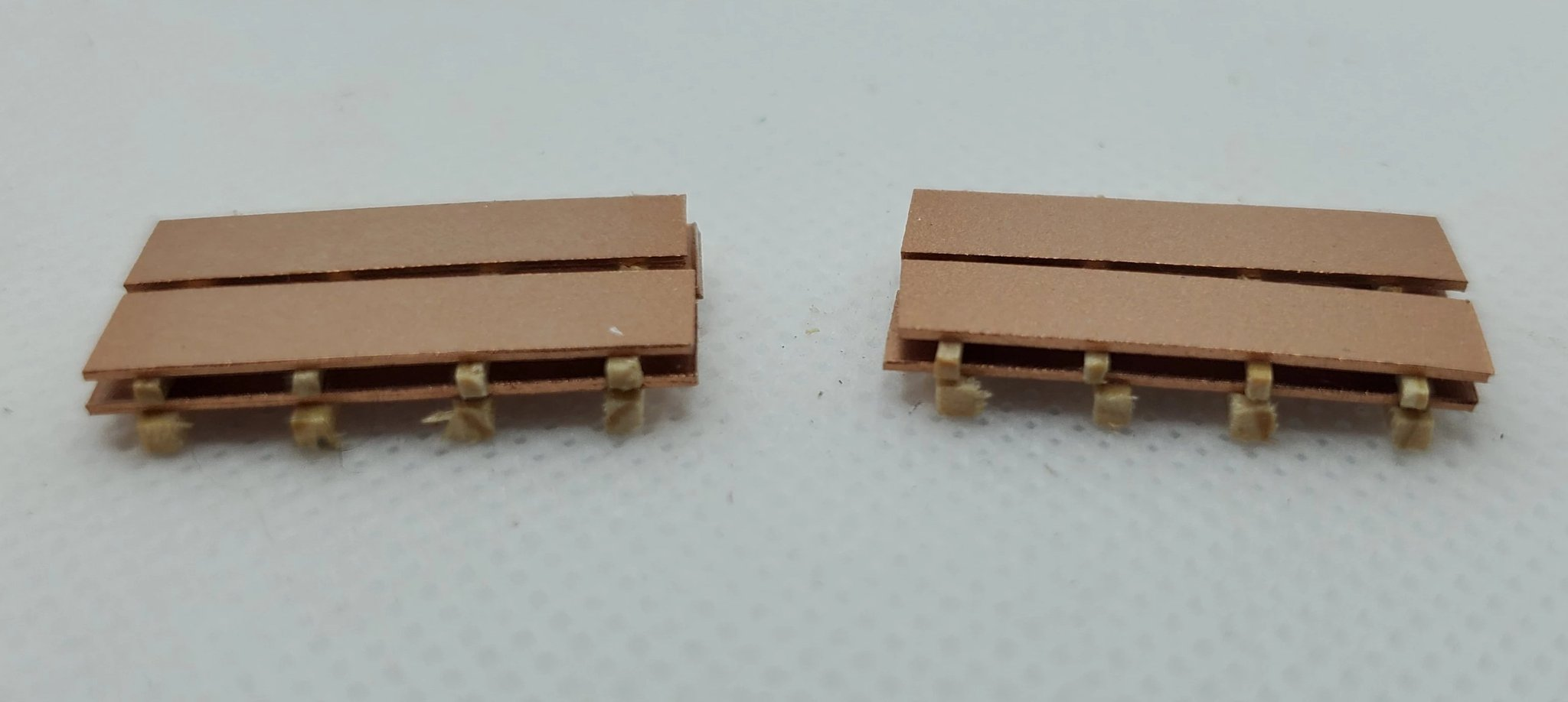 N Scale - CG Model Trains - 13539 - Railcar Loads - Painted/Unlettered - Copper Sheeting
