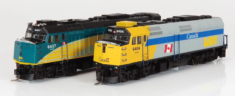 N Scale - Rapido Trains - 580005 - F40PH-2D - Via Rail Canada - 6402