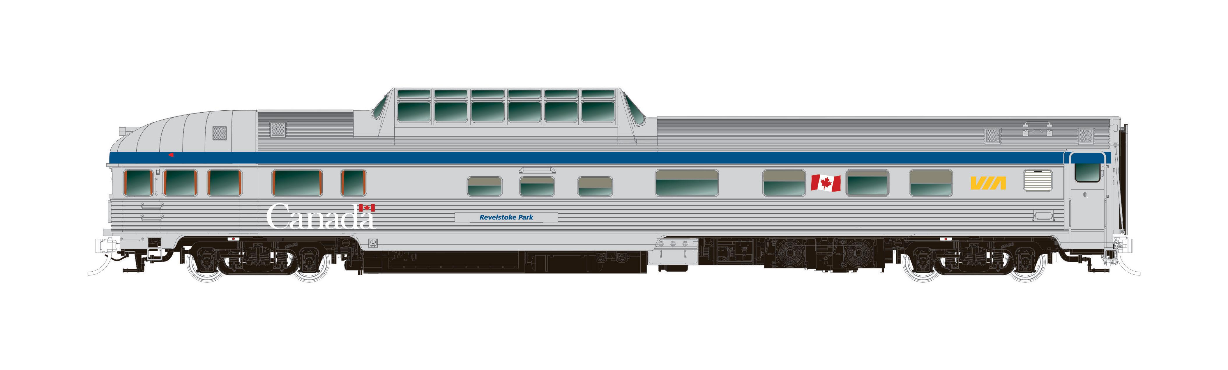 N Scale - Rapido Trains - 550006 - Passenger - Via Rail Canada - 10-pack