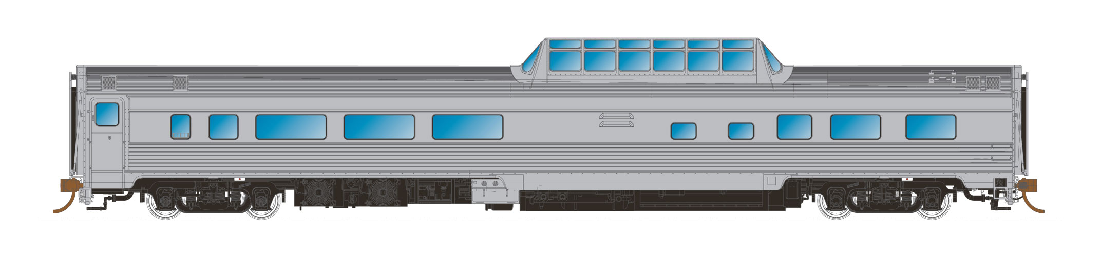 N Scale - Rapido Trains - 550115 - Passenger Car, Budd, Lightweight Coach - Undecorated