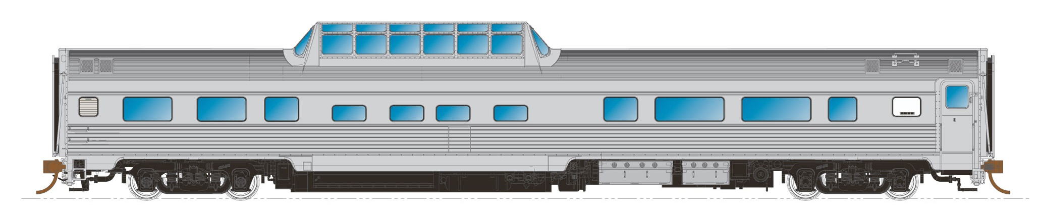 N Scale - Rapido Trains - 550114 - Passenger Car, Budd, Lightweight Coach - Undecorated