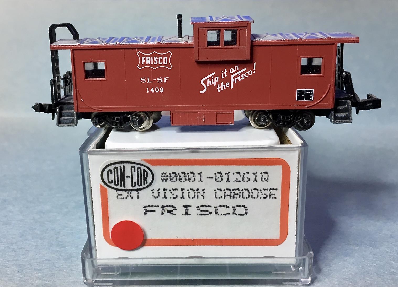 N Scale - Con-Cor - 0001-01261Q - Caboose, Cupola, MI - Frisco - 1409