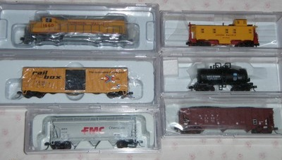 N Scale - Atlas - 2102 - Mixed Freight Consist, North America, Transition Era - Union Pacific