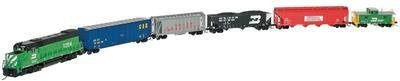 N Scale - Atlas - 2115 - Mixed Freight Consist, North America, Transition Era - Burlington Northern