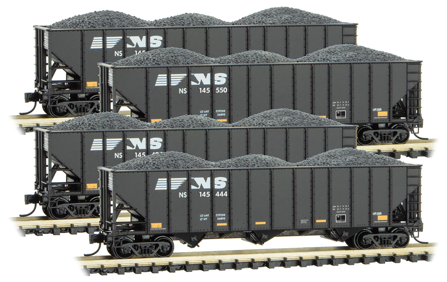N Scale - Micro-Trains - 993 00 169 - Boxed Set, Runner Pack - Norfolk Southern - 4-Pack