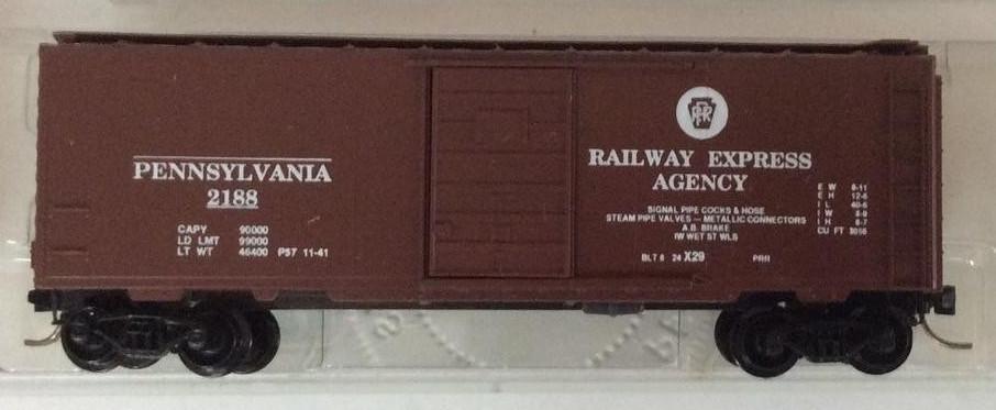 N Scale - Perrine Model Train Works - 1120 - Boxcar, 40 Foot, PS-1 - Pennsylvania - 2188