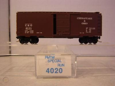 N Scale - Perrine Model Train Works - 4020 - Boxcar, 40 Foot, PS-1 - Chesapeake & Ohio - 4111