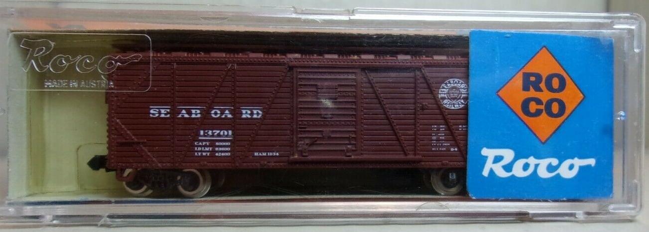 N Scale - Roco - 28906 - Boxcar, 40 Foot, Wood Sheathed, Outside Braced - Seaboard Air Line - 13701