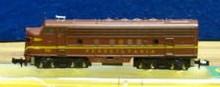 N Scale - Minitrix - 2972 - Locomotive, Diesel, EMD F9 - Pennsylvania