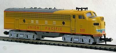 N Scale - Minitrix - 2962 - Locomotive, Diesel, EMD F9 - Union Pacific - 510