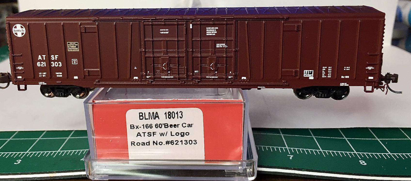 N Scale - BLMA - 18006 - Boxcar, 62 Foot, BX-166 - Santa Fe - 621492