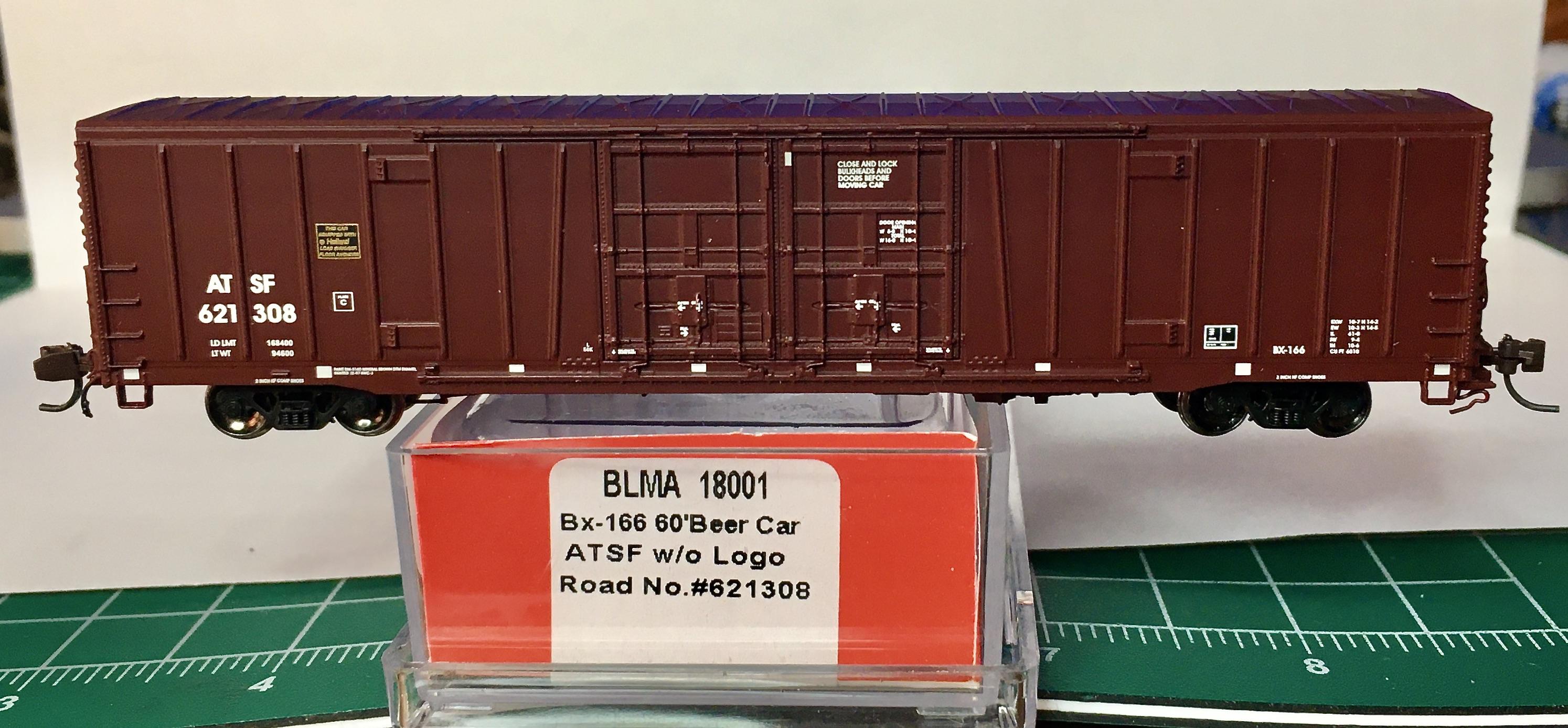 N Scale - BLMA - 18013 - Boxcar, 62 Foot, BX-166 - Santa Fe - 621308