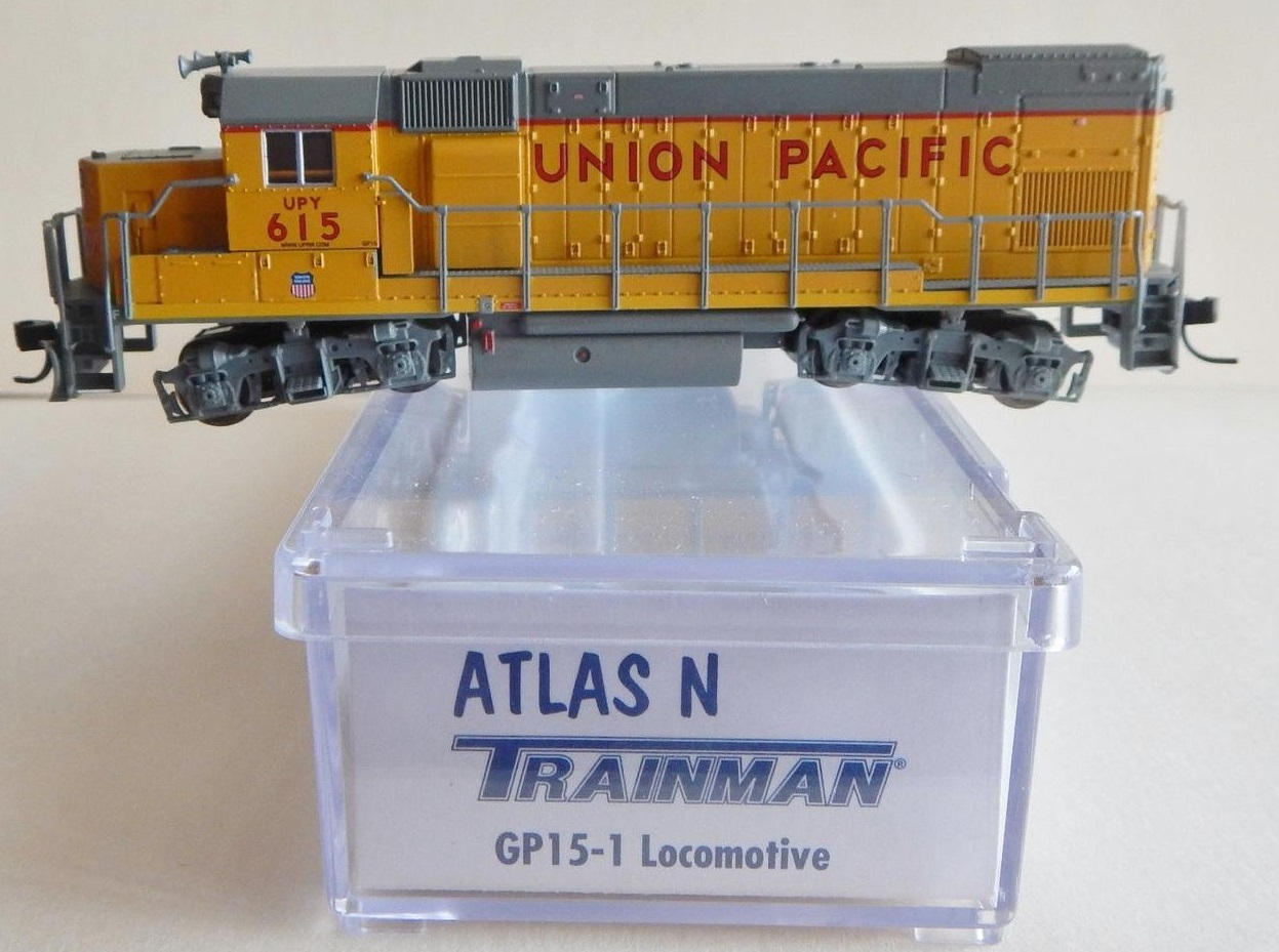 N Scale - Atlas - 2106-A - Locomotive, Diesel, EMD GP15-1 - Union Pacific - 615