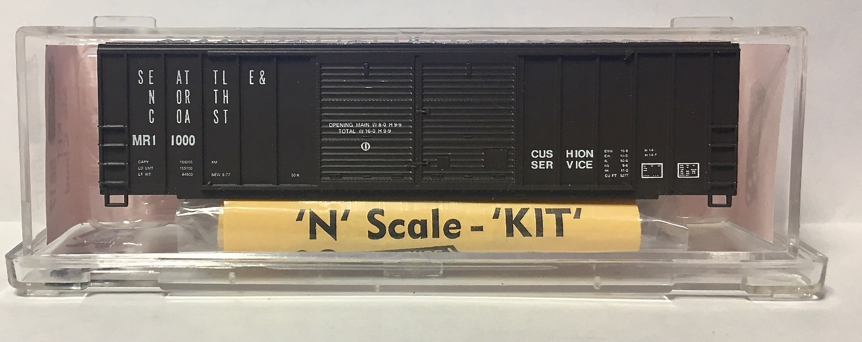 N Scale - Roundhouse - 8817 - Boxcar, 50 Foot, FMC, 5077 - McCloud River - 1000