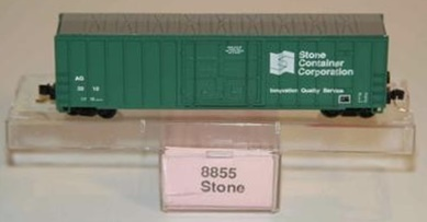 N Scale - Roundhouse - 8855 - Boxcar, 50 Foot, FMC, 5077 - Abbeville-Grimes Railway Company - 2010