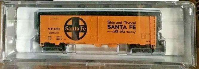 N Scale - Brooklyn Locomotive Works - BLW-1049-A - Reefer, 40 Foot, R-40-23 - Santa Fe - 20523
