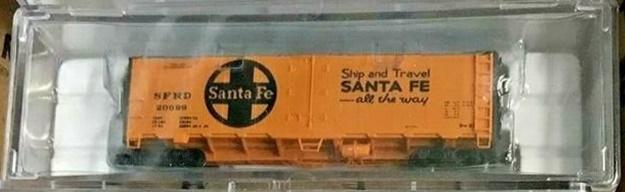 N Scale - Brooklyn Locomotive Works - BLW-1049-B - Reefer, 40 Foot, R-40-23 - Santa Fe - 20699