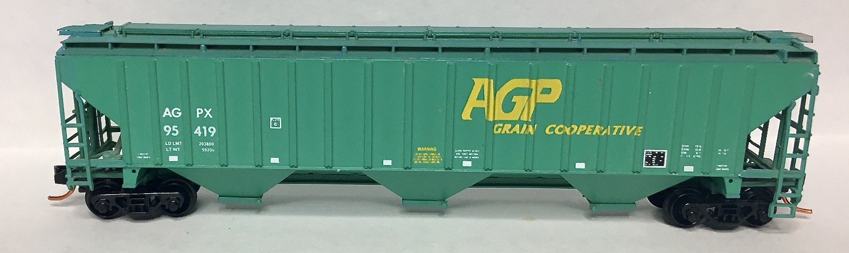 N Scale - InterMountain - 65355-0X - Covered Hopper, 3-Bay, Thrall 4750 - AG Processing - 95419