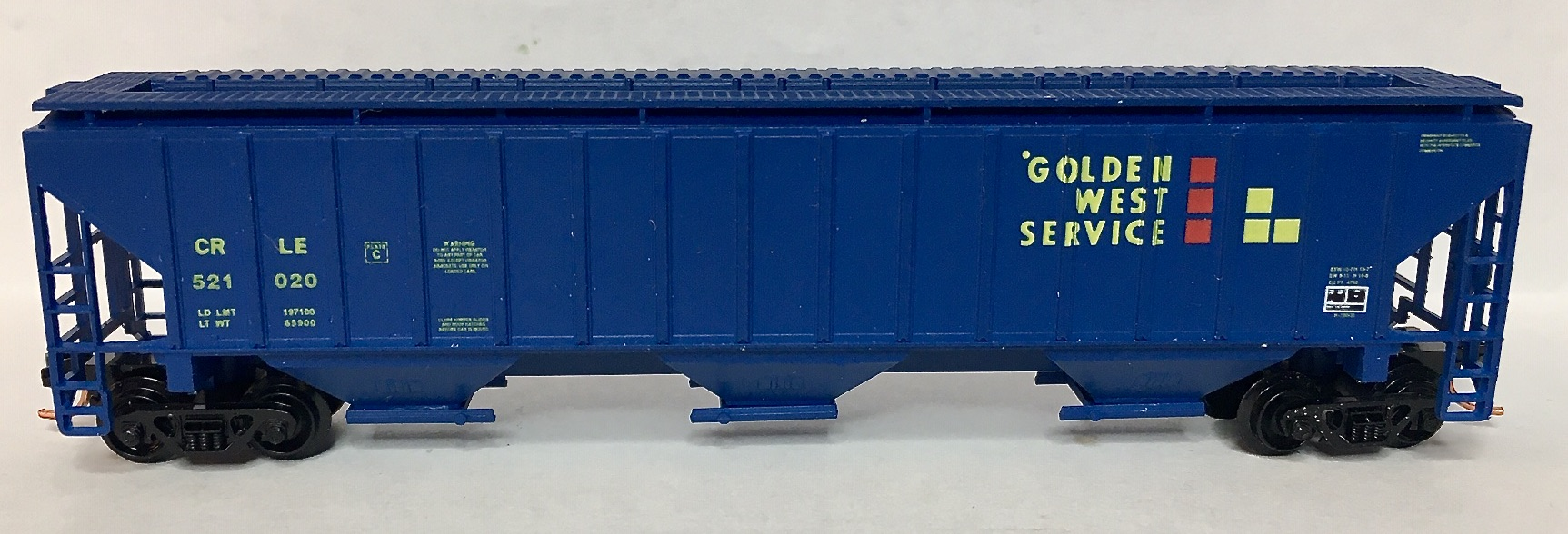 N Scale - Red Caboose - RM-15428 - Covered Hopper, 3-Bay, PS2-CD 4750 - Golden West Service - 521020