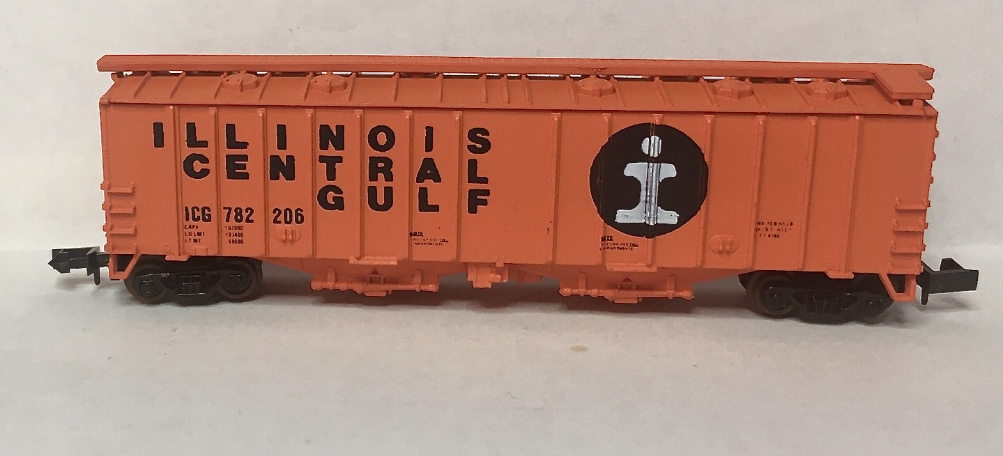 N Scale - Delaware Valley - 2003 - Covered Hopper, 2-Bay, GATX Airslide 4180 - Illinois Central - 782206