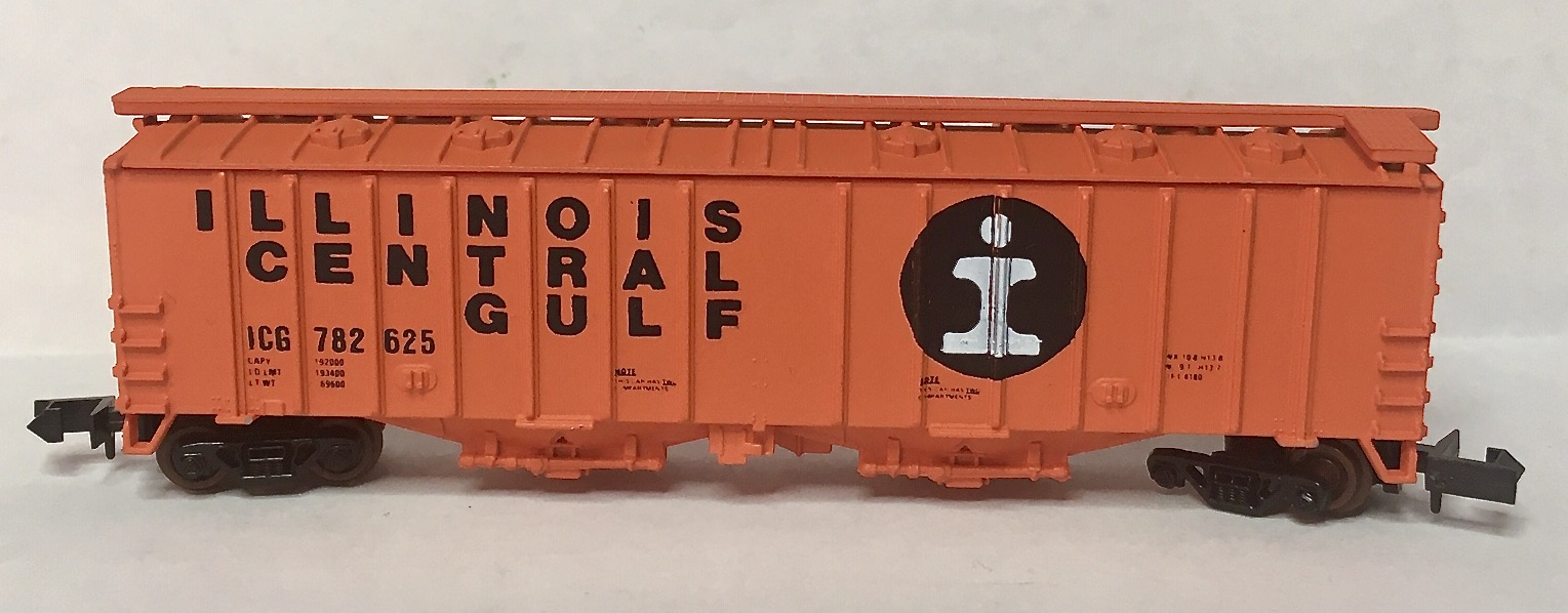 N Scale - Delaware Valley - 2003 - Covered Hopper, 2-Bay, GATX Airslide 4180 - Illinois Central - 782625