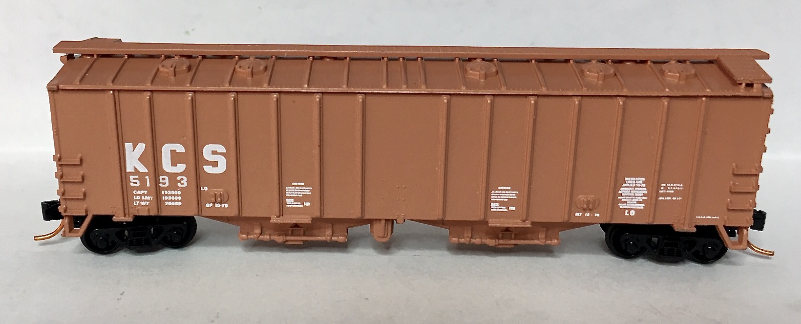 N Scale - JnJ - 9701-2 - Covered Hopper, 2-Bay, GATX Airslide 4180 - Kansas City Southern - 5193