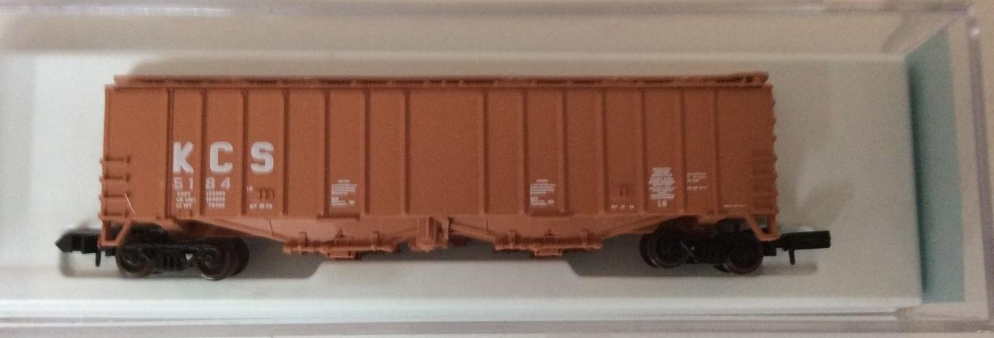 N Scale - JnJ - 9701-1 - Covered Hopper, 2-Bay, GATX Airslide 4180 - Kansas City Southern - 5184