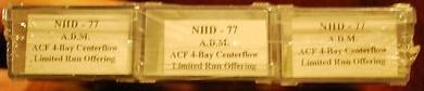 N Scale - N Hobby Distributing - 77 - Covered Hopper, 4-Bay, ACF Centerflow - Archer Daniels Midland - 3-pack