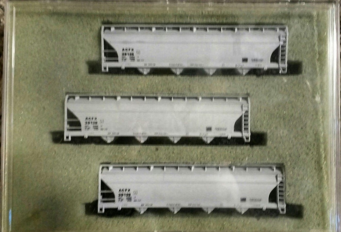 N Scale - N Hobby Distributing - 56 - Covered Hopper, 4-Bay, ACF Centerflow - American Car & Foundry - 39130, 39135, 39139