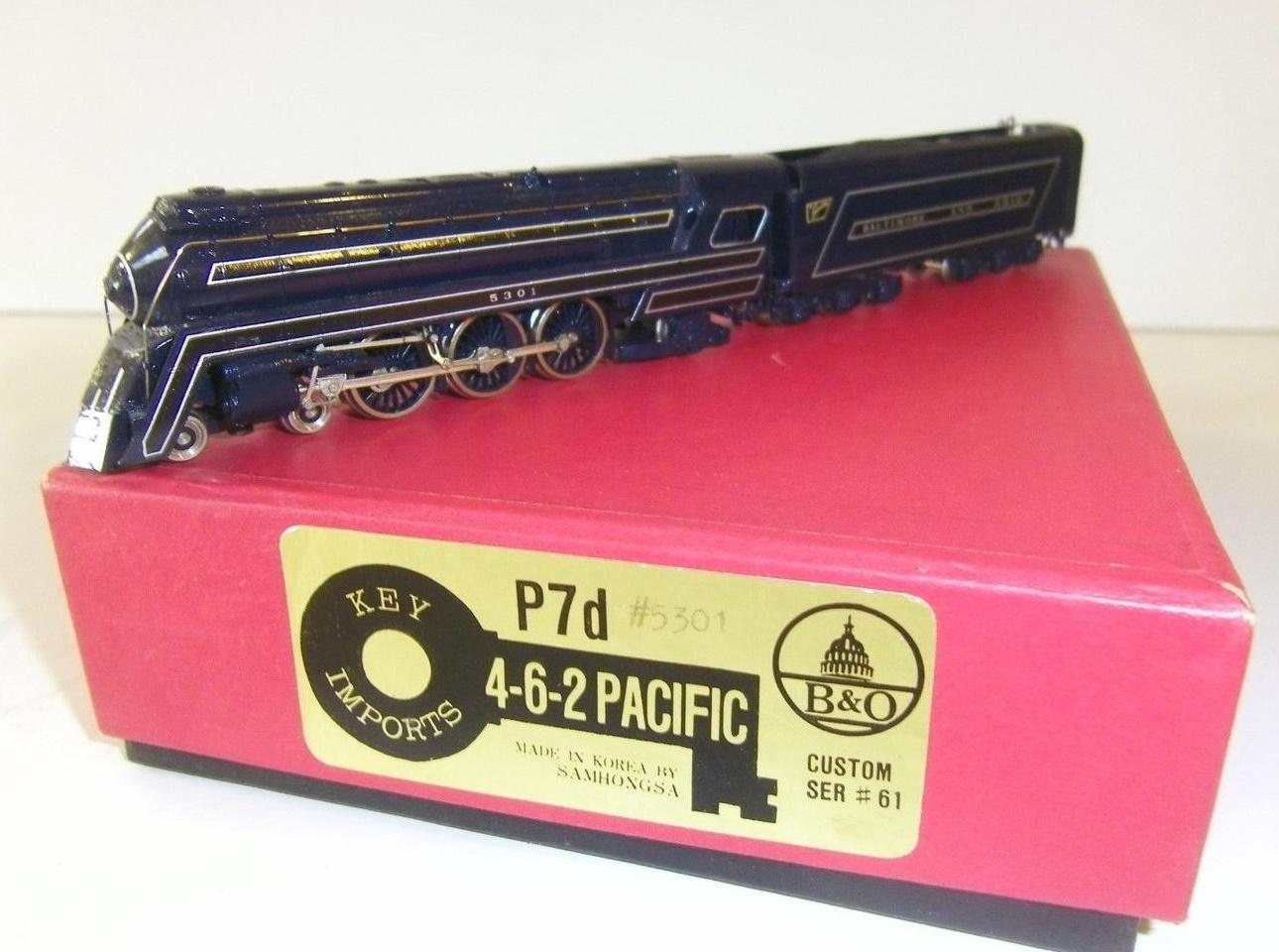 N Scale - Key - SER #61 - Locomotive, Steam, 4-6-2, Pacific B&O P-7 - Baltimore & Ohio - 5301