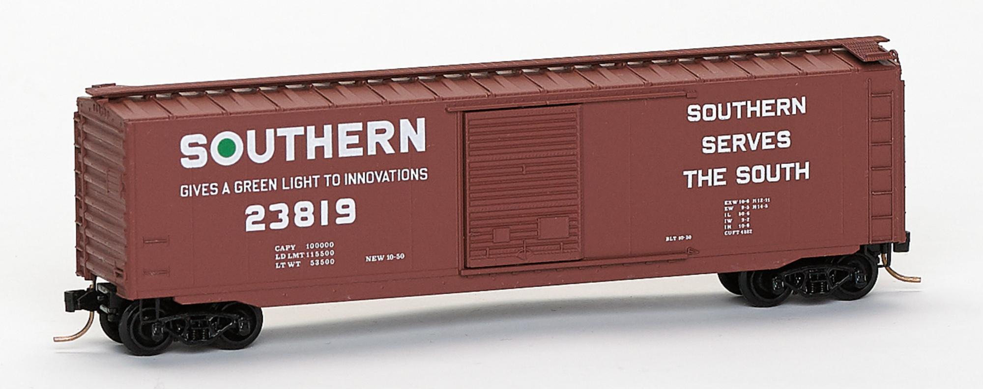 N Scale - Brooklyn Locomotive Works - BLW-06 - Boxcar, 50 Foot, PS-1 - Southern - 23819