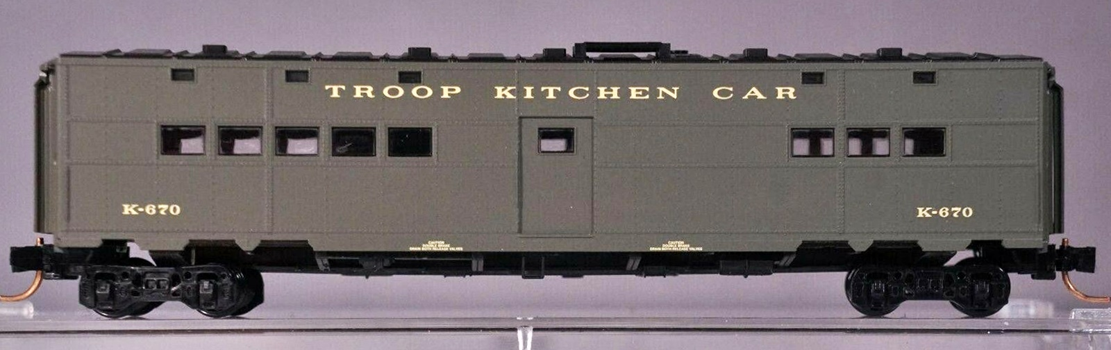 N Scale - Micro-Trains - 118 50 010 - Passenger Car, Troop Transport - United States Army - K-670