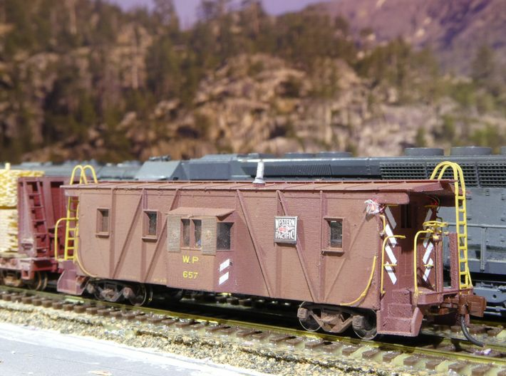 N Scale - Voltscooter - VLT-RRK-1 - Caboose, Bay Window - Western Pacific - 657