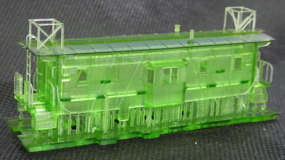 N Scale - Voltscooter - VLT-RRK-2 - Caboose, Bay Window - Western Pacific - WP 629, 643-703, SN 1634-1637, 1840-1644