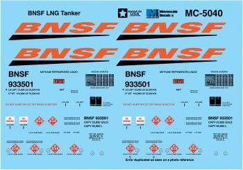 N Scale - Microscale - 60-5040 - Burlington Northern Santa Fe