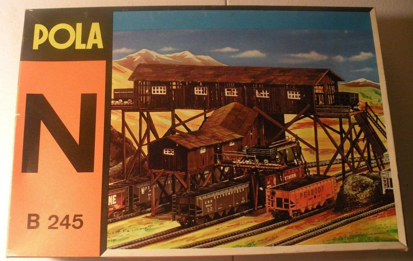 N Scale - Pola - 245 - Coal Mine - Industrial Structures - Old Coal Mine