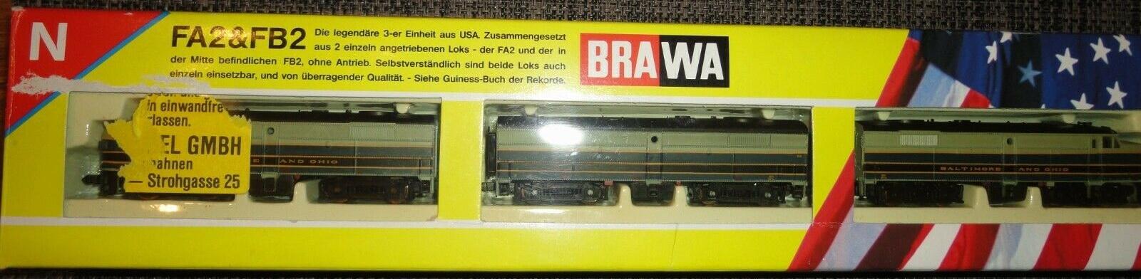N Scale - Brawa - 1042 - Locomotive, Diesel, Alco FA/FB - Baltimore & Ohio - 837, 837a, 837b