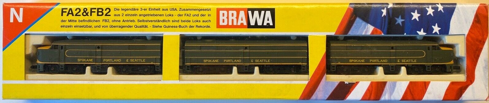 N Scale - Brawa - 1043 - Locomotive, Diesel, Alco FA/FB - Spokane Portland & Seattle - 868,  213