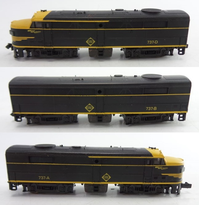 N Scale - Brawa - 1044 - Locomotive, Diesel, Alco FA/FB - Erie - 737-A, 737-B, 737-D