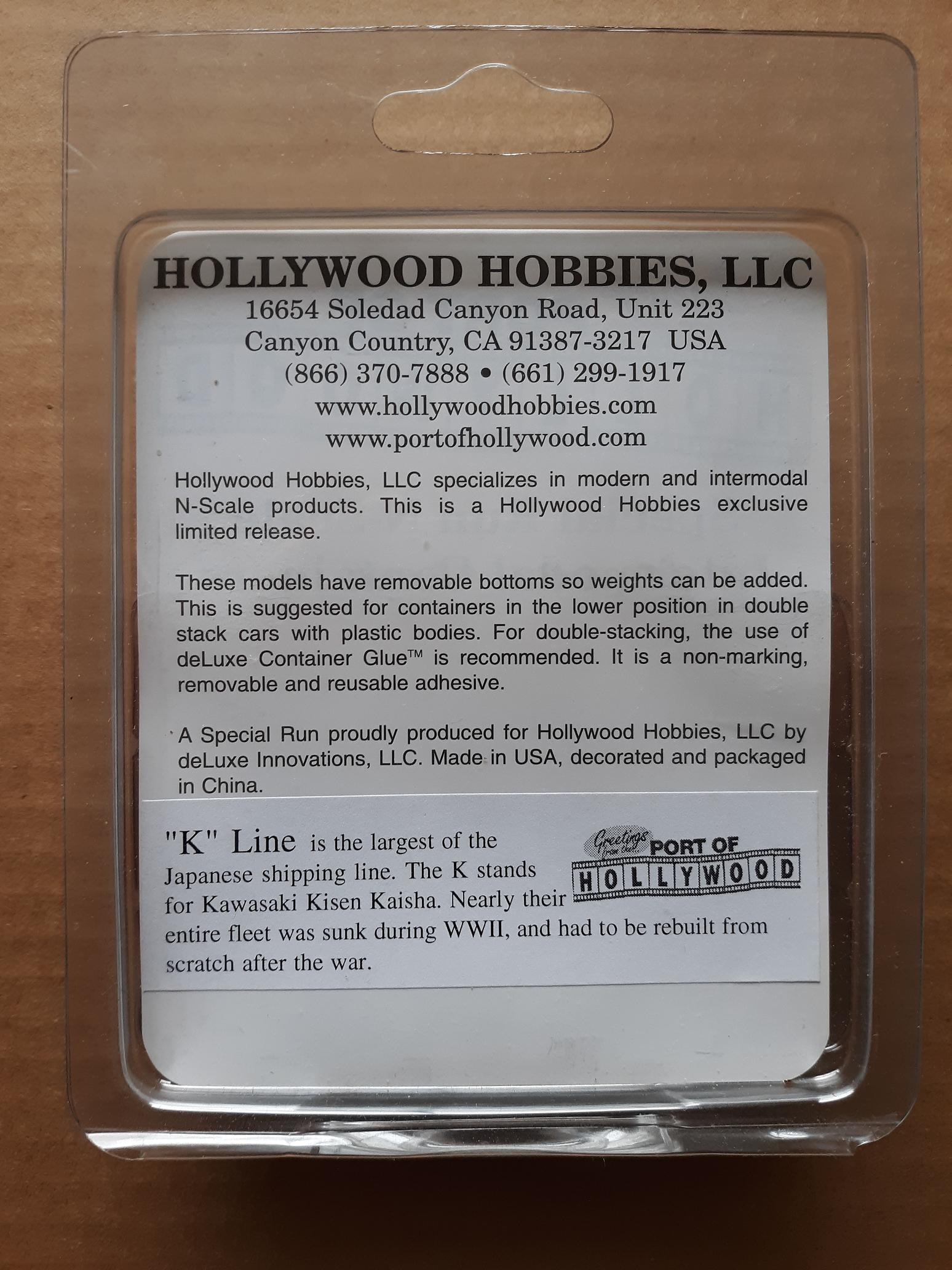 N Scale - Port of Hollywood - K Line - Container, 40 Foot, Corrugated, Dry - K Line - 115232, 115369