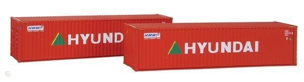 N Scale - Rolland - 599-102 - Container, 40 Foot, Corrugated, Dry - Hyundai - 688229 4
