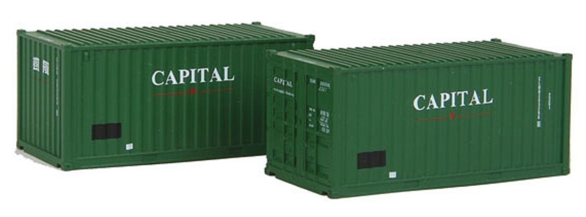 N Scale - Rolland - 599-201 - Container, 20 Foot, Corrugated, Dry - Capital - 203296 6