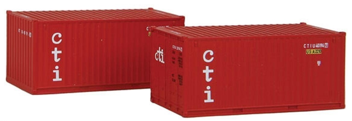 N Scale - Rolland - 599-203 - Container, 20 Foot, Corrugated, Dry - CTI - 40194