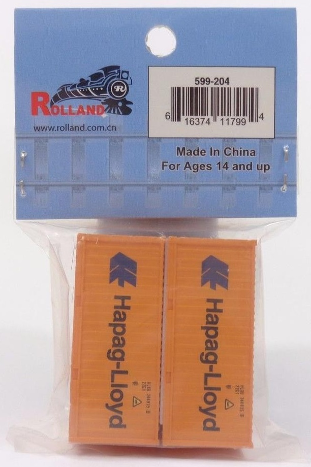 N Scale - Rolland - 599-204 - Container, 20 Foot, Corrugated, Dry - Hapag-Lloyd - 344935 8