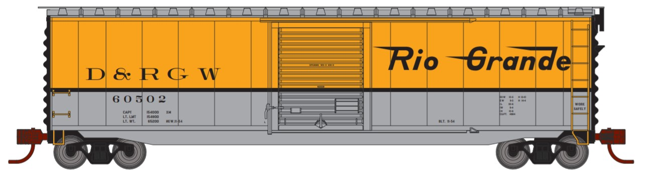 N Scale - Athearn - 2352 - Boxcar, 50 Foot, PS-1 - Rio Grande - 60507